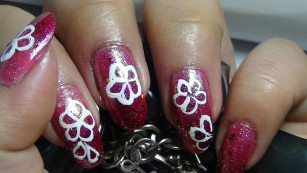Amazing Hand Painted Nail Art Tutorial 4 - 10 Amazing Hand Painted Nail Art Designs