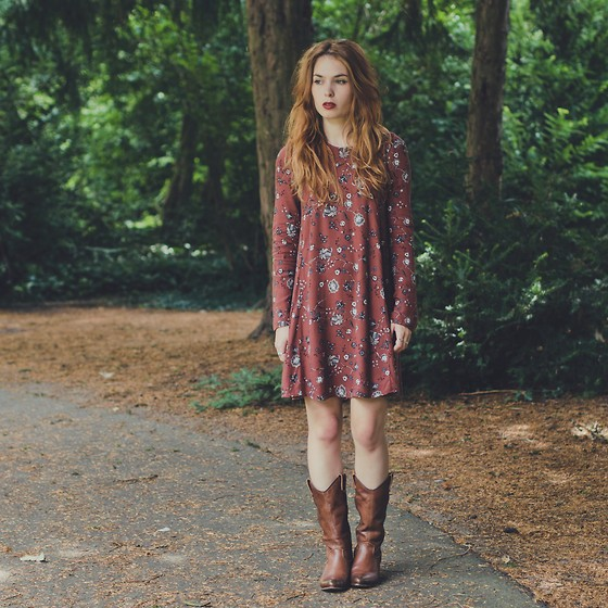 Asymmetrical Dress with Cowboy Boots - Try Cute Dresses to Wear With Cowboy Boots