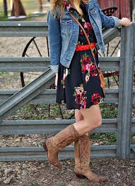 Floral Dresses and Cowboy Boots - Try Cute Dresses to Wear With Cowboy Boots