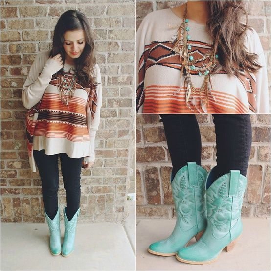 Skinny Jeans and Cowboy Boots - Try Cute Dresses to Wear With Cowboy Boots