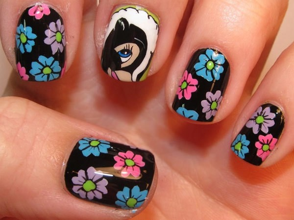 five1 - 10 Amazing Hand Painted Nail Art Designs