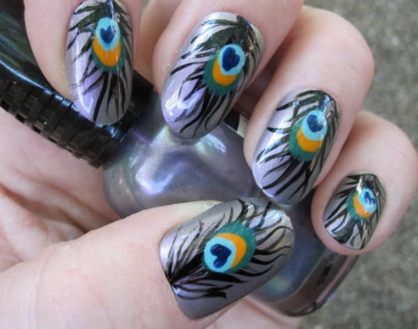six1 - 10 Amazing Hand Painted Nail Art Designs