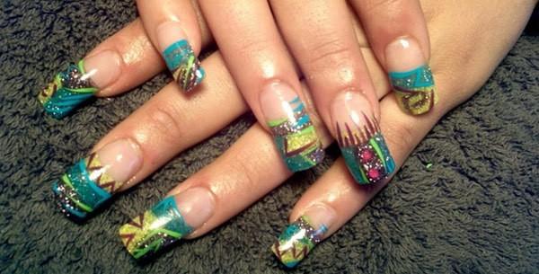 three1 - 10 Amazing Hand Painted Nail Art Designs