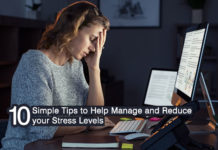 10 simple tips to manage and reduce stress levels