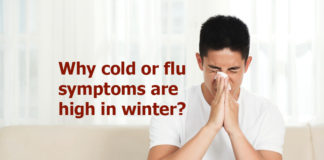 Why cold or flu symptoms are high in winter?