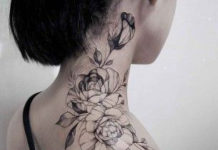 10 neck tattoos for women