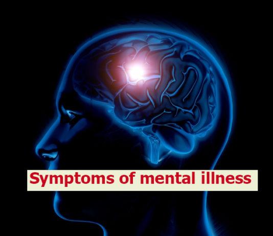 Symptoms of mental illness