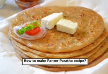 How to make Paneer Paratha recipe?