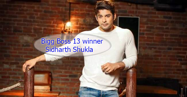 Bigg Boss 13 winner Sidharth Shukla
