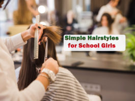 Simple Hairstyles for School Girls