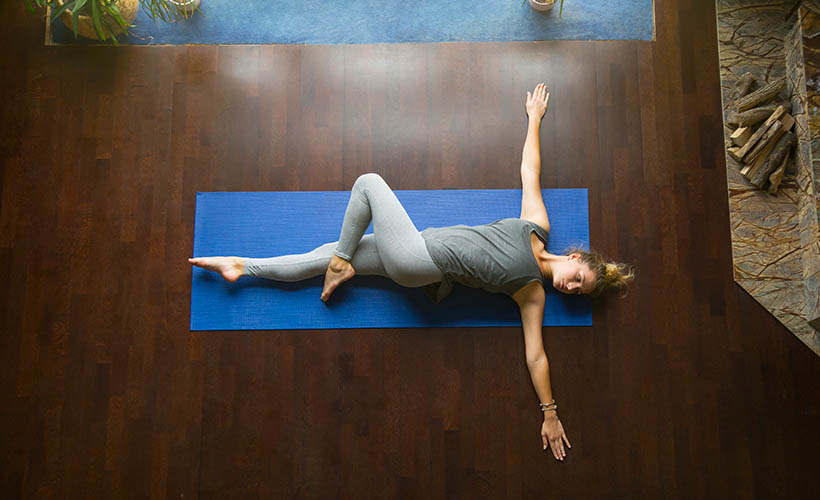 Supine Cross body Spinal Twist - 5 Stretches for Immediate Relief of Back Pain
