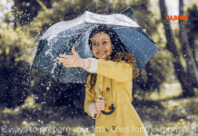 8 ways to prepare your little ones for the monsoon